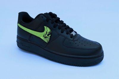 BILL by Warren Lotas Is Set to Drop Custom Skull Force Nike Air Force 1s in Black & Green