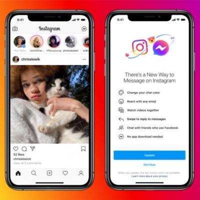 Facebook introduces cross-app communication between Messenger and Instagram, plus other features