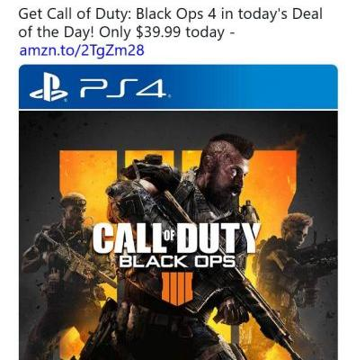 Call of Duty: Black Ops 4 on sale today at Amazon for $39.99