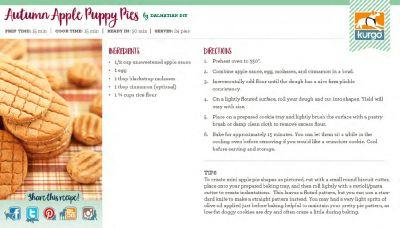 Kurgo Holiday Cookbook: Autumn Apple Puppy Pies by Dalmatian DIY