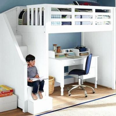 19 Inspirational Loft Beds with Stairs and Desk Pics