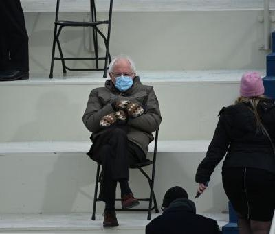 Sen. Bernie Sanders Has a Sustainable Fashion Moment at the Presidential Inauguration