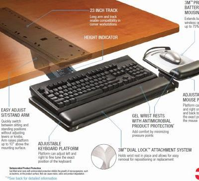 29 Beautiful Under Desk Keyboard Tray Pictures