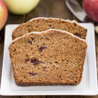 Glazed Cranberry Apple Bread