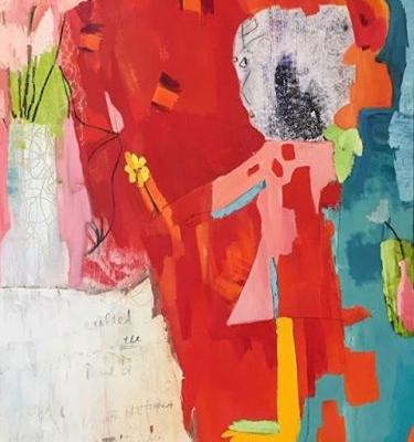"Contemporary Art, Abstract,Expressionism, Studio 9 Fine Art ""Approaching the Altar of Joy"" by International Abstract Artist Amanda Saint Claire"
