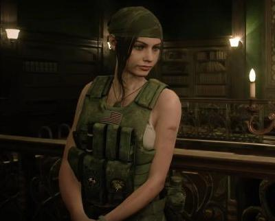 Claire Redfield sells complete indifference to her merc gear in Resident Evil 2