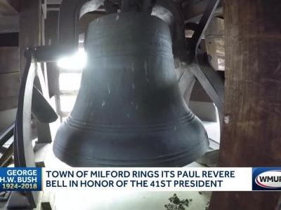 Town of Milford rings Paul Revere bell in honor of Bush 41