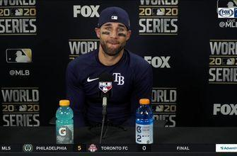 Kevin Kiermaier discusses Rays' wild finish, win in Game 4 of the World Series