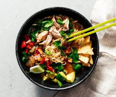 Instant Pot Chicken Tortilla Ramen Soup