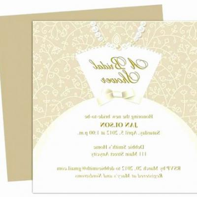 30 Awesome Bridal Shower Card Template Pics