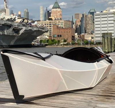This new kayak folds up to fit inside a backpack, letting you paddle anywhere, anytime