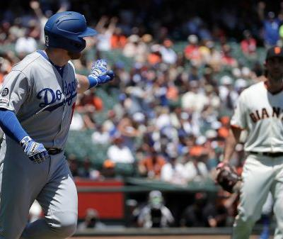 Max Muncy to angry Madison Bumgarner: Get my homer 'out of the ocean'