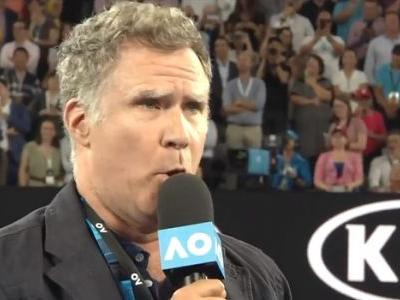 Will Ferrell Interviewed Roger Federer After His Win, Obviously Asked If He Was A Vampire