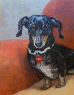 Sami Oil Dog Painting Pet Art Animal Commission Miniature Dachshund Portrait