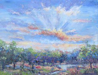 Peaceful Morning, New Contemporary Landscape Painting by Sheri Jones