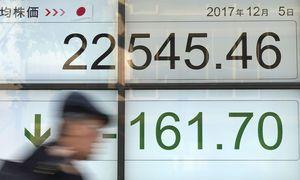 Global shares decline after tech stock tumble on Wall Street