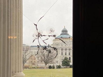What I saw during a visit of the Capitol just days after the deadly Trump-incited riot: Smashed windows, discarded escape hoods, and lots of National Guard