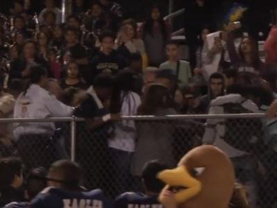 High school football game forfeited after players join massive bleachers brawl