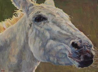 """Colorful Contemporary Horse Art, Equine Painting Farm Animal """"Eunice"""" by Contemporary Animal Artist Patricia A. Griffin"""