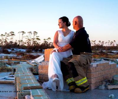 First responders in Florida wed amid Hurricane Michael's destruction