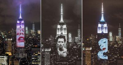 Harper's Projected 150 Iconic Fashion Photos Onto the Empire State Building