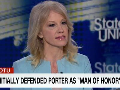 Kellyanne Conway defends jumbled White House response to Rob Porter's ouster in back-to-back intense interviews