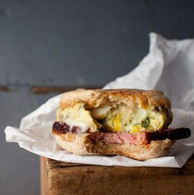 The Best Ham and Egg Breakfast Sandwich