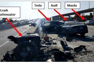 Tesla Model X sped up in Autopilot mode seconds before fatal crash, according to NTSB
