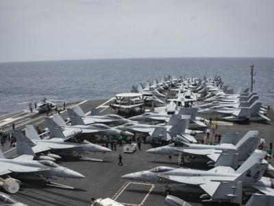 US aircraft carrier seen as barometer of tensions with Iran