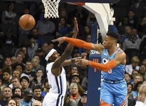 Westbrook helps Thunder rally for 99-95 win over Grizzlies