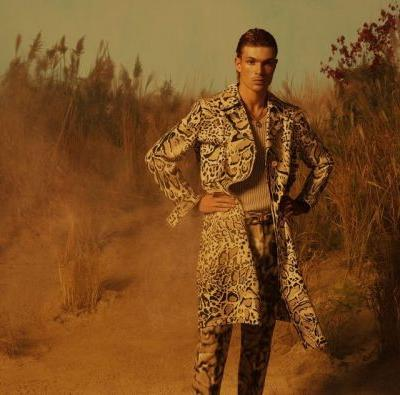 Luka Isaac Rocks Bold Style for Roberto Cavalli Spring '19 Campaign