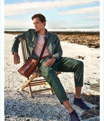Greg Nawrat Hits the Beach for Gino Rossi Spring '18 Campaign