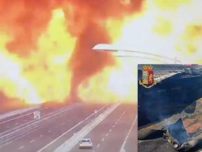 Tanker Crash Triggers Giant Explosion In Italy