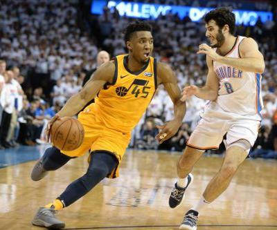 Jazz rookie Donovan Mitchell takes over vs. Thunder, breaks Michael Jordan playoff record