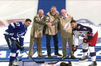 Blue Jackets, Lightning perform ceremonial puck drop with Medal of Honor winners