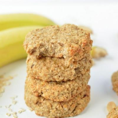 Peanut Butter banana oatmeal cookie