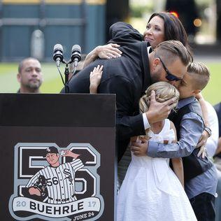 White Sox retire former star pitcher Buehrle's No. 56 jersey
