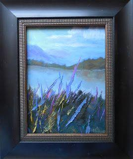 Small Landscape Expressionist Painting, Daily Painting, Small Oil Painting, Lake Junaluska, 6x8