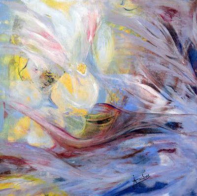 """Original Contemporary Abstract Painting """"Cocoon-Cacoon"""" by International Contemporary Abstract Artist Arrachme"""