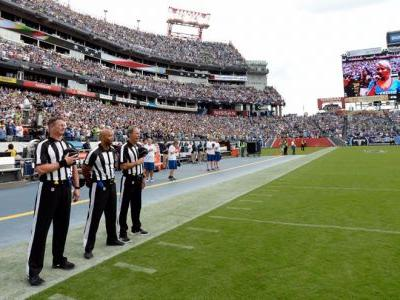 Both the Seahawks and Titans skipped the national anthem, and it made for a surreal scene on the nearly empty field