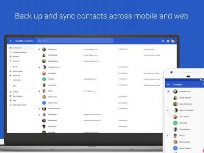 Google Contacts for Android updated bunch of new features