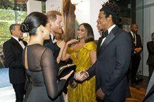 Beyonce & Jay-Z Meet Prince Harry & Meghan Markle at 'Lion King' London Premiere: See the Pics