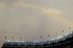 Mets-Yankees game postponed by rain, to be made up Aug. 13