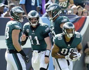 Eagles blow pair of leads in losing 26-23 to Titans in OT