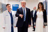 Melania Trump Paid Her Respects to the Florida High School Shooting Victims in a White Dress