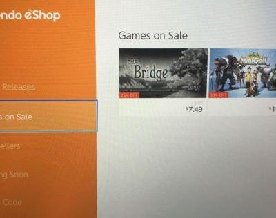 Nintendo adds subtle 'games on sale' category to the Switch eShop
