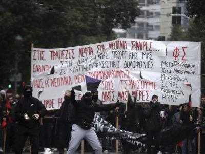 Greek police deploy for marches on teen death anniversary