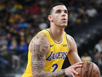 Lakers G Lonzo Ball has to be carried off floor after suffering sprained left ankle