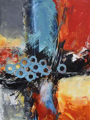 "Mixed Media Abstract Painting, Contemporary Art, ""Explore the Less Traveled"" by Santa Fe Contemporary Artist Sandra Duran Wilson"