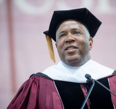 A look at the life of Robert F. Smith, the billionaire investor paying off student loans who owns homes in Malibu and NYC, and married a former Playboy model in a lavish Italian ceremony
